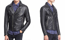 Levis Made & Crafted 'Offroad' Leather Moto Jacket Black  Size-3   NEW/898