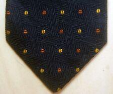 "Textured Midnight Blue Canali Tie. Italy. 3 5/8"" x 61""."