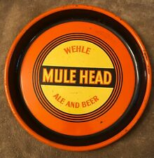 Wehle Mule Head Ale And Beer Tray Sign 1930'S-40'S West Haven, Connecticut
