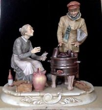 Large Vintage Figurine. Capodimonte Pucci #8508 Mother & Son. Detailed Realistic