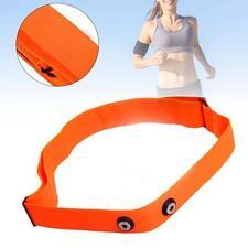 Orange Soft Sport Heart Rate Monitor Strap Chest belt for Polar Wahoo Garmin BT