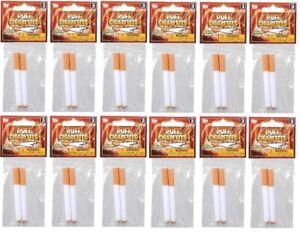 24 Fake Puff Cigarettes - Fake Magic Smoke Trick Gag Prop Costume Accessory Toy
