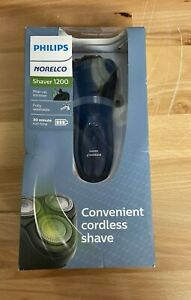 Philips Norelco 1200 Cordless Electric Shaver - Black & New Midnight Blue NE