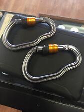 2x- Vertigo WL auto locking lanyard carabiner  PETZL new wire lock 2 FOR $24