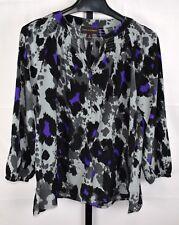 Dana Buchman Gray and Purple Long Sleeve Top Size XL