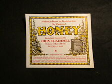 1930's to 40's Fancy Honey Label Mitchell Indiana