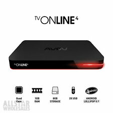 Used AVOV TVOnline 4 IPTV Android Nova 4K HD HEVC Bluetooth Box MAG 264