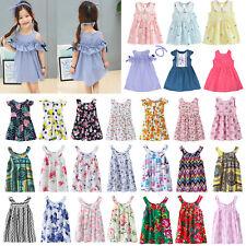 Baby Kids Girls Dress Toddler Princess Party Tutu Summer Floral Dress Cute Lot