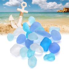 100Pcs 10-16mm Sea Beach Glass Beads Jewelry Vase Aquarium Fish Tank Decor