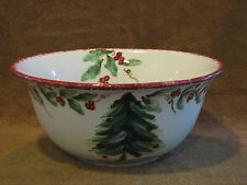 "MAXCERA TREE GARLAND 9.5"" Round Vegetable Serving Bowl - Holiday / Christmas"