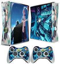 XBOX 360 SLIM STICKER VOCALOID SINGING SYNTHESIZER KAWAII ANIME SKIN & PAD SKINS