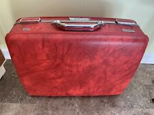 Red American Tourister Escort Suitcase, Medium Size, Combination Lock, Good.