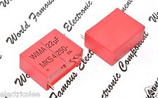 1pcs - WIMA MKS4 22uF (22µF) 250V 5% pitch:37.5mm Polyester Capacitor