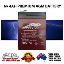 6v 4.0ah SLA Rechargeable Battery 6volt Lead 4ah Toy Electric