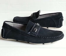 Calvin Klein Men's Loafer shoes size 8 navy blue leather suede NIB