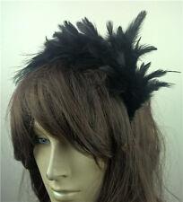 black feather headband fascinator headpiece wedding party race ascot