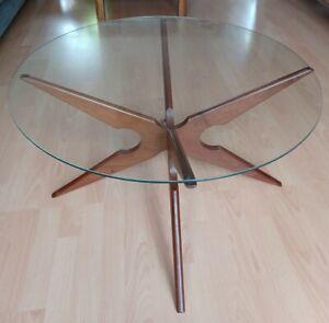 Mid Century Danish Sika Mobler Teak Spider Coffee Table By Vladimir kagan