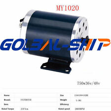 MY1020 750W 36V/48V High Speed Brush DC Motor DHL Shipping perfect Y