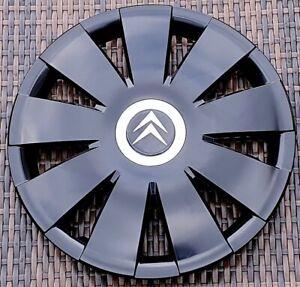 """Black 16"""" wheel trims to fit CITROEN C4, C5 C8 DISPATCH BERLINGO( NOT BOXER)"""