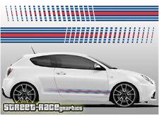 Alfa Romeo Martini racing stripes 002 vinyl graphics stickers Giulietta Mito