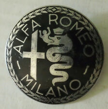 Vintage Alfa Romeo Milano Italian Metal Emblem Badge Ornament logosign