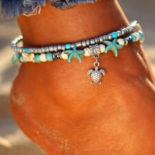Women Starfish Turquoise Beads Anklet Beach Sandal Ankle Bohemia Boho Bracelet