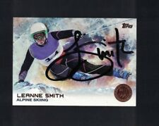 Leanne Smith Alpine Skiing Signed 2014 Topps USA Olympics Card W/Our COA