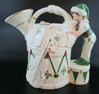 "NIB Lenox Santa's Holiday Toy Shop ""French Horn"" Elf Porcelain Pitcher"