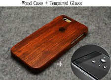 Wood Bamboo Carved Phone Fitted Case For Apple iPhone X 8 Plus 7 Plus 6 SE Cover