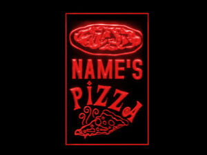 270062 Pizza Shop Personalized Your Text Display Neon Sign