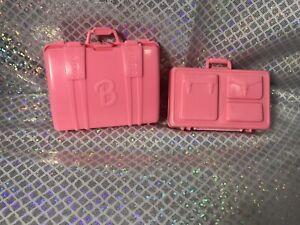 Barbie TRAVEL SUITCASE Luggage &valise Briefcase Vintage,bright Pink