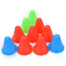 10x Colorful Marker Cones Slalom Roller Skating Training  Traffic Sport ft