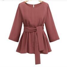 Plus Size Chiffon Shirt Women Blouses Bow 3/4 Sleeve Ladies Blouses High Quality