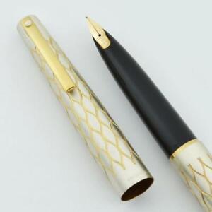 Lady Sheaffer 642 Fountain Pen ('75) - Satin Tulle, 14k Med Stylpoint Nib (New)