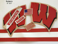 Wisconsin Badgers  FS Speed Football Helmet Decals Set.