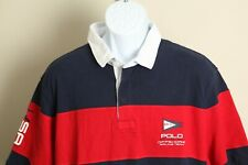 New listing Polo Ralph Lauren Men's red, white and blue Rugby Sailing polo shirt 2XL XXL