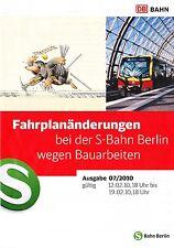 S-BAHN BERLIN, Fahrplanänderungen bei der S-Bahn Berlin wegen Bauarbeiten