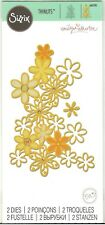 DRIFTING DAISY Set of 2 SIZZIX THINLITS Dies #661295 - Beautiful Flower Design