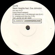 NEON HEIGHTS - Are We Thru? Z. Johnston (Larry Heard Rmxs) - Glasgow Underground