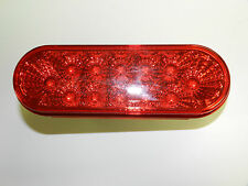 "(1) Miro-Flex RED 6-1/2"" Oval LED 12 Diode S/T/T Light trailer Truck Optronics"