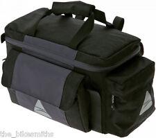 Axiom Robson LX Bike Trunk Rack Bag & Panniers Black Gray Bicycle Rear Rack Pack