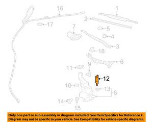 GM OEM Wiper-Rear Washer Pump 22979757
