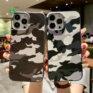 Bumper Case For iPhone 13 12 Pro Max 11 XS XR 7 8 Plus Camouflage Soft TPU Cover