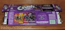 """2017 USA CRUSH GRAPE """"TRANSFORMERS-THE LAST KNIGHT"""" EMPTY 12-PACK CAN CARTON"""
