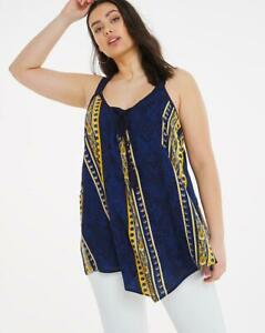 Womens Print Vest Top by Joe Browns Plus Sizes Navy Size UK 24 and UK 26 RRP £30