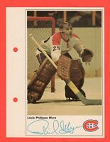 1971-72 Toronto Sun NHL Action Player Photos Phil Myre nrmnt-mt