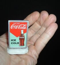 "Coca Cola Soda Pop Coke Miniature 2"" Coke Advertising sign MINT Free Ship"