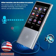 Portable Smart Translator Ai Touch Screen Travel Translator Multi-language