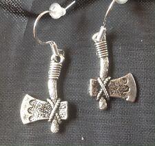 Axe Earring on 925 Silver Hooks