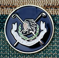 """Bellevue Country Club  1"""" Gold Plated Ball Marker by Golf Design USA"""